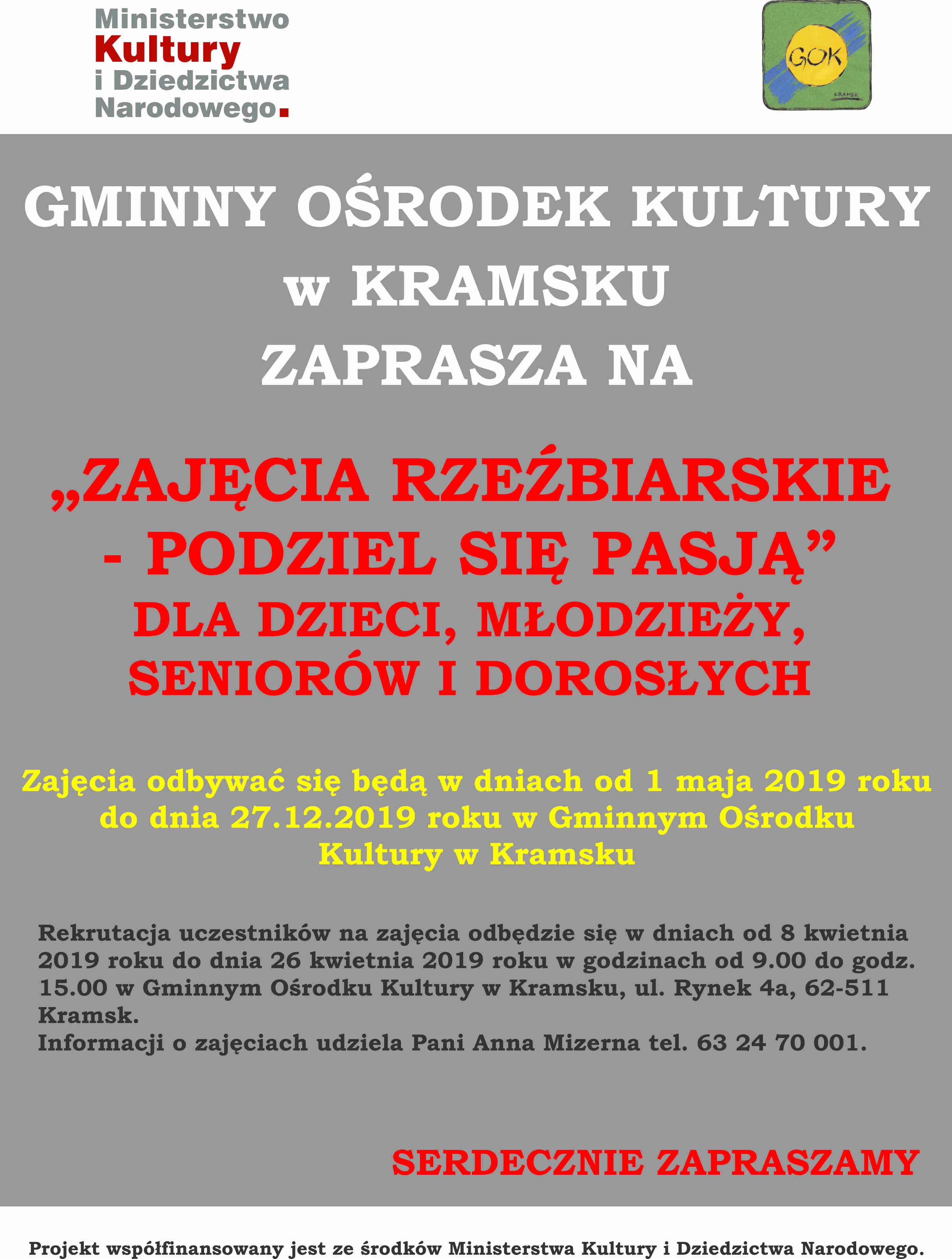 Plakat Warsztaty Rzezbiarskie
